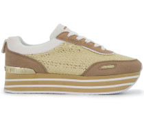'Runner' Sneakers mit Plateausohle