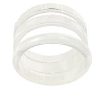 Dreireihiger Ring aus Silber