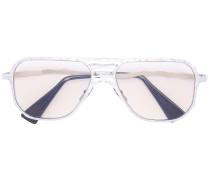 Pilotenbrille mit verspiegelten Gläsern