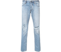 'Lou' Jeans in Distessed-Optik