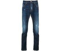 Schmale Jeans mit Distressed-Optik