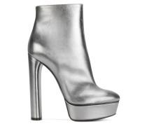 Plateau-Stiefeletten im Metallic-Look