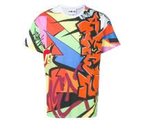 T-Shirt mit Graffiti-Print