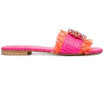 floral embellished sandals