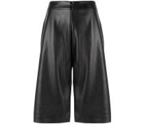 cropped flared shorts