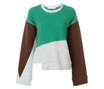 oversized colour block sweatshirt