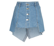 Cut Out Front Denim Mini Skirt
