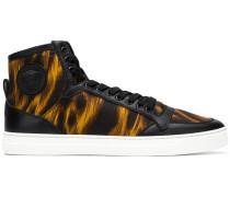 High-Top-Sneakers mit Animal-Print