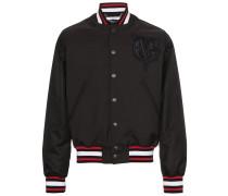 logo embroidered bomber jacket