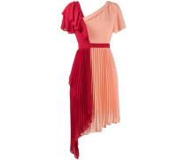 'Chimera' zweifarbiges Kleid mit Plissee