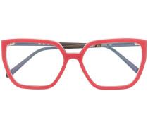 Brille in Colour-Block-Optik