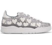 Sneakers im Glitter-Look