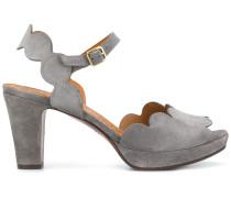 scallop-hem sandals