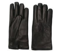 logo embossed gloves