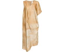 asymmetric gradient midi dress