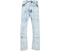 Gerade Jeans mit Logo