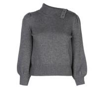 Pullover mit geknöpftem Stehkragen
