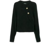 Pullover mit geknöpftem Rücken