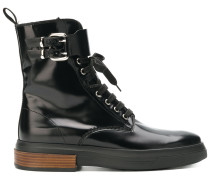high ankle lace up boots