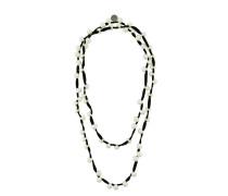 Doppelsträngige Halskette mit Perlen