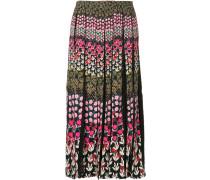 floral print pleated skirt midi dress