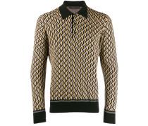 Intarsien-Pullover mit Poloshirtkragen