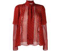 polka dot printed blouse