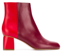 RED(V) two-tone zipped booties