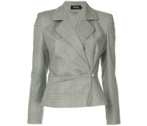 gathered off-centre button jacket