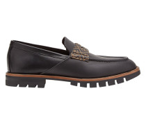 Penny-Loafer mit Logos