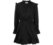 Besticktes Popeline-Kleid