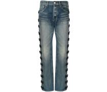 Jeans mit seitlichen Schleifen