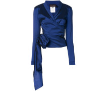ruched asymmetric fitted jacket - Unavailable