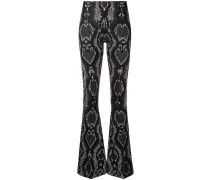 snake jacquard effect trousers