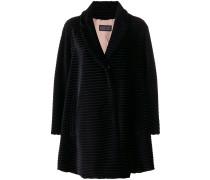 textured stripe coat