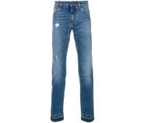 Bootcut-Jeans in Distressed-Optik