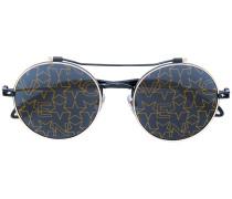 Runde Sonnenbrille mit Sternen