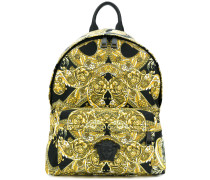 Baroque printed backpack