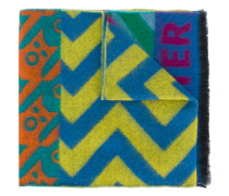 patchwork letterman style scarf