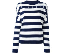 Gestreifter Pullover mit Cut-Outs