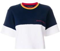 Cropped-T-Shirt in Colour-Block-Optik