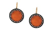 Knopfförmige Ohrringe mit Edelsteinen