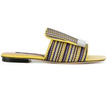 striped sr1 sandals