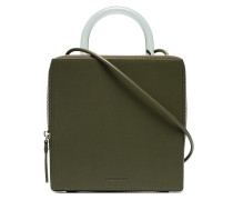 green Box leather shoulder bag