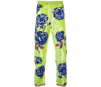 rose sequin trousers