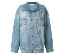oversized faded denim jacket