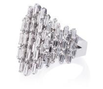 18K white gold and diamond Renaissance ring