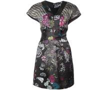 Gemustertes Kleid mit Knotenverschluss