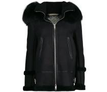 fur hood shearling jacket