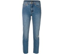A.P.C. Cropped-Jeans im Distressed-Look